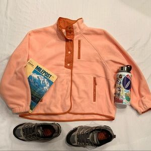 American eagle peach Sherpa button up